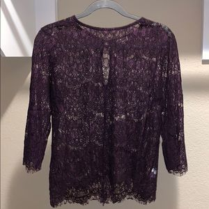 Dark purple lace top